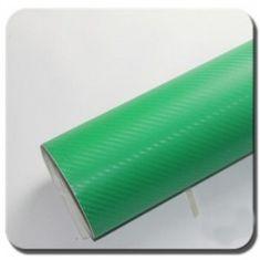 CWFoo 3D Karbonová zelená s větší strukturou wrap auto fólie na karoserii