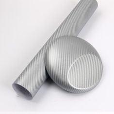 CWFoo 3D Karbonová stříbrná s větší strukturou wrap auto fólie na karoserii