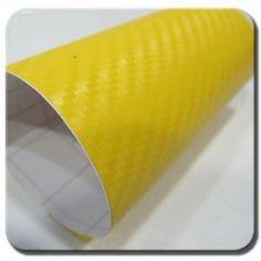 CWFoo 3D Karbonová žlutá wrap auto fólie na karoserii