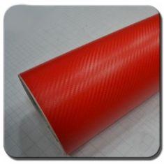 CWFoo 3D Karbonová červená wrap auto fólie na karoserii