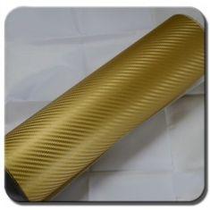 CWFoo 3D Karbonová zlatá wrap auto fólie na karoserii