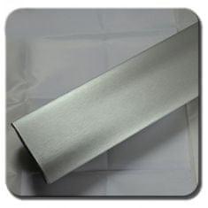 CWFoo Broušená stříbrná wrap auto fólie na karoserii