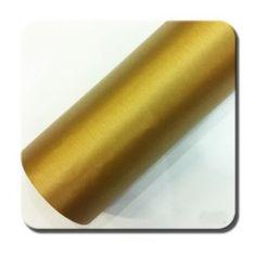 CWFoo Broušená zlatá wrap auto fólie na karoserii