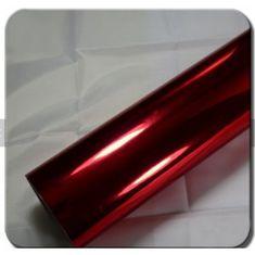 CWFoo Chromovaná zrcadlová 3vrstvá červená wrap auto fólie na karoserii