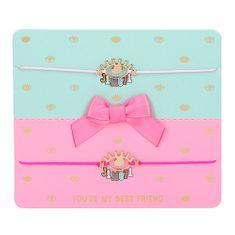 J1MO71 Karkötők ASST, Aranyozott, 2 db, világos rózsaszín és sötét rózsaszín