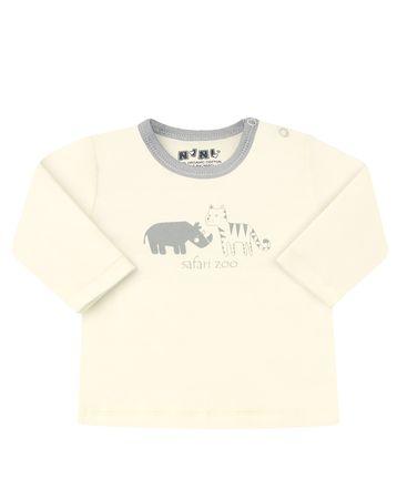 Nini koszulka chłopięca z bawełny organicznej 74 kremowa