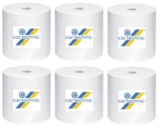 CARTECHNIC Papírové utěrky - ubrousky nedělené, role 300 m, 6 ks rolí - Cartechnic