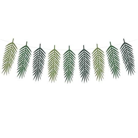 Decor By Glassor Papírová girlanda palmové listy