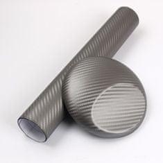 CWFoo 3D Karbonová tmavá šedá wrap auto fólie na karoserii