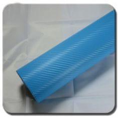 CWFoo 3D Karbonová nebeská modrá wrap auto fólie na karoserii