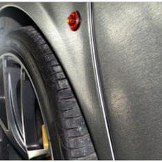 CWFoo Broušená tmavá šedá wrap auto fólie na karoserii