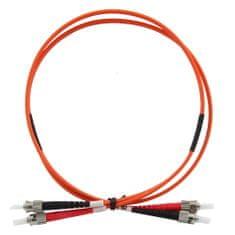 OEM Optikai patch kábel duplex ST-ST 62,5 / 125 um MM, 1m, Optikai patch kábel duplex ST-ST 62,5 / 125 um MM, 1m