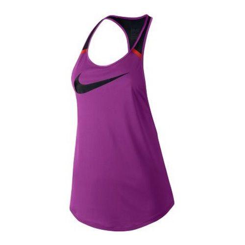 Nike FLOW GRX TANK, 10 | WOMEN TRAINING | WOMENS | TANK TOP / SINGLET | COSMIC PURPLE / BLACK / LT CRIMSON | M