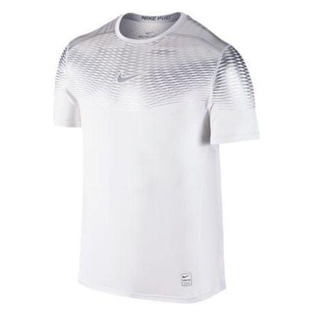 Nike HYPERCOOL MAX FTTD SS, 10.   FÉNYKÉPZÉS   MENS   RÖVID HÁLÓ FEL   FEHÉR / FEHÉR / MTLC Ezüst L