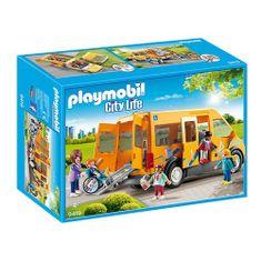 Playmobil Školský autobus Playmobil, Škola, 40 dielikov