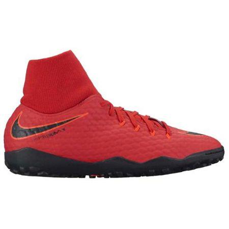 Nike HYPERVENOMX PHELON 3 DF TF, 20. | FABOTBALL / FOCCER | MENS | HIGH TOP | EGYETEM VÖRÖS / FEKETE-FÉNYKÉPES CR 11