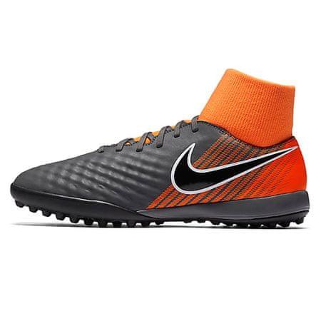 Nike OBRAX 2 AKADEMIJA DF TF, 20 | FOOTBALL / SOCCER | MOŠKI | VISOK VRH | TEMKA GREY / BLACK-TOTAL ORANGE-W | 7.5