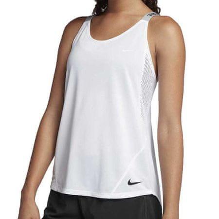 Nike W NK DRY TANK ELASTKA, 10 | SZKOLENIA KOBIET | KOBIETY | TANK TOP / SINGLET | BIAŁY / CZARNY | XL