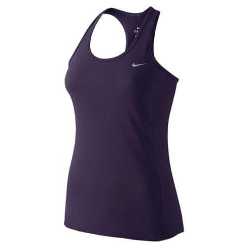 Nike DRI-FIT CONTOUR TANK, 10 | RUNNING | WOMENS | TANK TOP / SINGLET | PURPLE DYNASTY / REFLECTIVE SILV | L