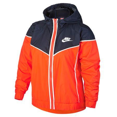 Nike W NSW WR JKT, 10   INNE SPORTY NSW   KOBIETY   KURTKA   RUSH ORANGE / OBSIDIAN / WHITE   M.