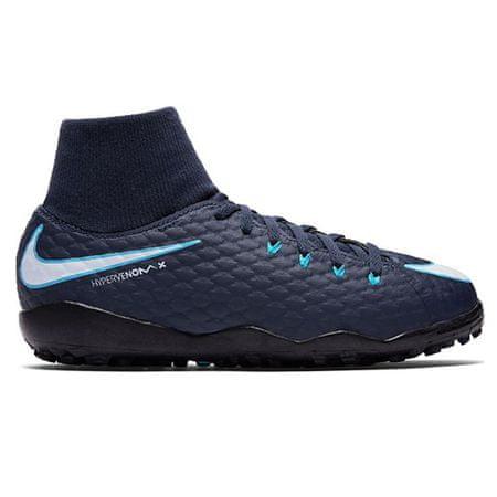 Nike JR HYPERVENOMX PHELON 3 DF TF, 20 | PIŁKA NOŻNA / PIŁKA NOŻNA | GRD SCHOOL UNSX | HIGH TOP | OBSIDIAN / WHITE-GAMMA BLUE-GLAC | 4,5Y