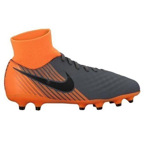 Nike JR OBRA 2 ACADEMY DF FG, 20 | FOOTBALL / SOCCER | GRD SCHOOL UNSX | HIGH TOP | DARK GREY / BLACK-TOTAL ORANGE-W | 1Y