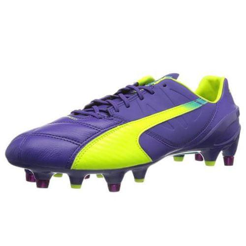 Puma evoSpeed 1-3 Lth Mixed SG, prism violet-Fluro yellow-scuba blue   11