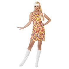 Smiffys Dámský kostým ,Hippiesačka - Velikost L 44-46, Halloween kostýmy