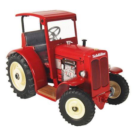KOVAP Schlüter DS 25 tetővel felszerelt traktor, szürke, Schlüter DS 25 tetővel felszerelt traktor, piros