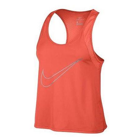 Nike W NK DRY TANK RUN FAST, 10 | URUCHOMIENIE | KOBIETY | TANK TOP / SINGLET | TURF POMARAŃCZOWY / ODBLASKOWY SILV | Z