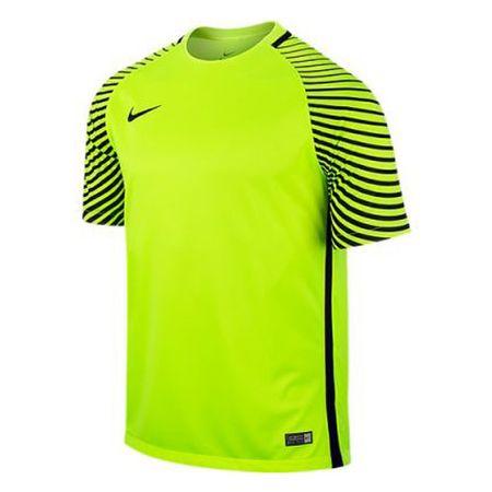 Nike SS GARDIEN JSY, 10. | FABOTBALL / FOCCER | MENS | RÖVID HÁLÓ FEL | VOLT / FEKETE / FEKETE | L