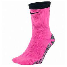 Nike GRIP STRIKE LTWT CREW, 30. | FABOTBALL / FOCCER | Felnőtt UNISEX CREW SOCK | HIPER PINK / FEKETE / (FEKETE) 8-9,5