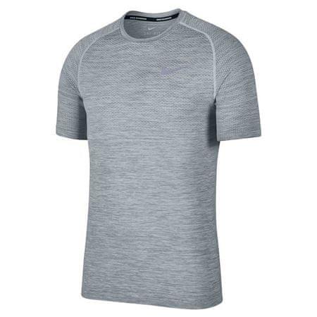 Nike M NK DF Kötött felső SS, 10.   Futás   MENS   RÖVID HÁLÓ FEL   TISZT PLATINUM / COOL GREY XL