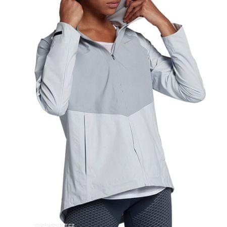 Nike W NK AROSHLD ZNL JKT HD, 10. | Futás | NŐK | Kapucnis dzseki | TISZTA PLATINUM / WOLF GREY / METAL | M