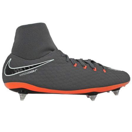 Nike PHANTOM 3 ACADEMY DF SG, 20. | FABOTBALL / FOCCER | MENS | HIGH TOP | TÖRÖS SZÜRKE / ÖSSZES FŰTÉSFEHÉR | 9.5