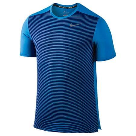 Nike DRI-FIT RACING PR SS, 10 | URUCHOMIENIE | MĘŻCZYZNA | TOP Z KRÓTKIM RĘKAWEM | LT ZDJĘCIE NIEBIESKI / ODBLASKOWY SILV | M.
