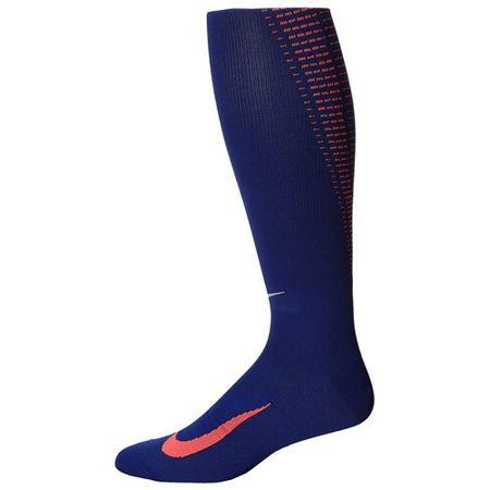 Nike ELITE RUNNING LTWT OTC, 30 | URUCHOMIENIE | DOROSŁYCH UNISEX WYSOKA SKARPETA NA KOLANIE | DPRYLB / HOTLVA / (M SILV) | 8–9,5