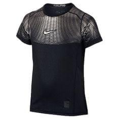 Nike HYPERCOOL MAX SS YTH, 10 | YOUNG Athletes | BOYS | SHORT SLEEVE TOP | BLACK / BLACK / MTLC TITANIUM | L