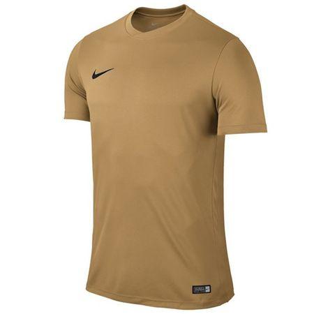 Nike SS PARK VI JSY, 10 | PIŁKA NOŻNA / PIŁKA NOŻNA | MĘŻCZYZNA | TOP Z KRÓTKIM RĘKAWEM | JERSEY GOLD / BLACK | XL