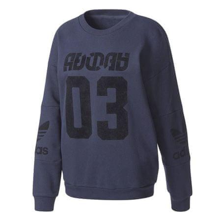 Adidas Pulóver Originals TREFOIL SWEATER, 360997 | Nők Kék 36