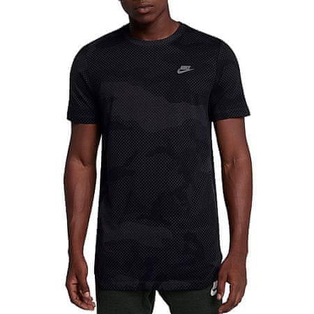 Nike M NSW TEE TB TECH ASYM, 10 | NSW DRUGI ŠPORTI | MOŠKI | KRATKA SLEEVE MAJICA | TELESNI VOZIČEK / ČRNI / TEMA GREY | XL