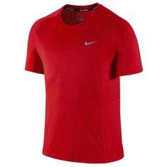 Nike BEZPIECZNIK DRI-FIT SS, 10 | URUCHOMIENIE | MĘŻCZYZNA | TOP Z KRÓTKIM RĘKAWEM | UNIWERSYTET CZERWONY / ODBLASKOWY SILV | 2XL
