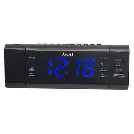 Akai ACR-3888 Ébresztőóra rádió kivetítővel, 9204482 | ACR-3888 Ébresztőóra rádió kivetítővel