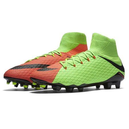 Nike HYPERVENOM PHATAL III DF FG, 20 | FOOTBALL / SOCCER | MOŠKI | VISOK vrh | ELEKTRIČNO ZELENO / ČRNO HIPER ORA | 9.5