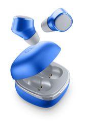 CellularLine True Wireless sluchátka Evade s dobíjecím pouzdrem BTEVADETWSB, modrá