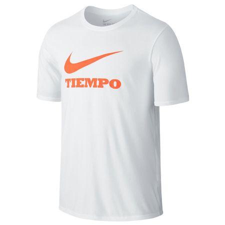 Nike Koszulka TIEMPO SWOOSH, 10 | PIŁKA NOŻNA / PIŁKA NOŻNA | MĘŻCZYZNA | T-SHIRT Z KRÓTKIM RĘKAWEM | BIAŁY / BIAŁY | 2XL