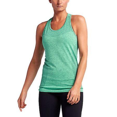 Nike ZBIORNIK DZIANINY DRI-FIT, 10 | URUCHOMIENIE | KOBIETY | TANK TOP / SINGLET | HASTA / GREEN GLOW / REFLECTIVE SI | Z