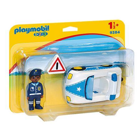 Playmobil Policijsko vozilo , 1.2.3, 3 kos