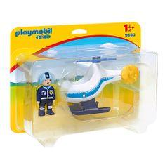 Playmobil Policajný vrtulník , 1.2.3, 2 ks
