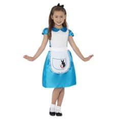 Smiffys Dívčí kostým Alenka - Pro věk 4-6, Halloween kostýmy
